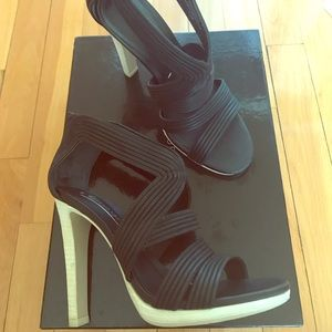 BCBG Maxazria genuine leather high heel sandals